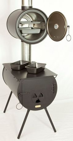 Portable Outdoor Oven Stove | camp wood stove with oven