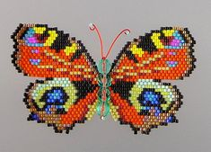 Large Peacock Butterfly PDF Pattern and von WizardIslandDesigns