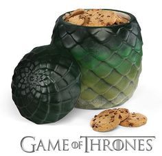 """Hoard your cookies in this dragon egg jar. 