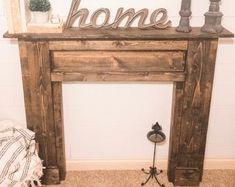 Rustic Wood Fireplace Mantel Shelf Distressed Farmhouse | Etsy