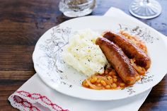 Sausages and beans Very British!