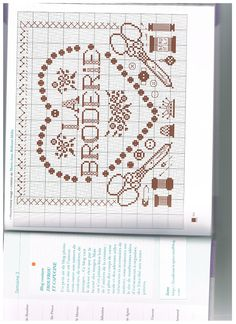 brodeuse - embroiderer - la broderie - ciseaux - coeur - point de croix - cross stitch - Blog : http://broderiemimie44.canalblog.com/