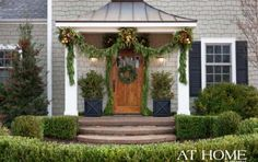 Design by DK Design/Christopher Todd, Photographed by Rett Peek for @At Home in Arkansas Magazine  http://www.athomearkansas.com/article/holiday-welcome