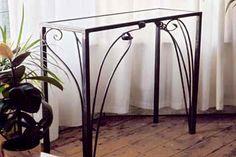 contemporary wrought iron console