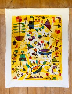 Hand Drawn Javanese Batik Wonderful modernist batik painting