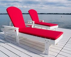 POLYWOOD® South Beach Chaise Lounge Grab a cool drink and head outside for some fun in the sun! Poly lounge chair that can handle the heat and the cold.