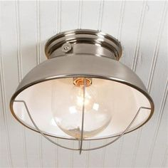 Nantucket Ceiling Light, Brushed Stainless Finish