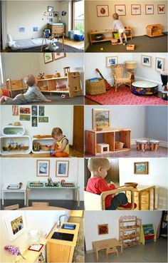 Montessori Tip: Hang Low Artwork (at the child's height!) Montessori Tip: Hang Montessori Playroom, Montessori Education, Montessori Materials, Montessori Activities, Baby Activities, Baby Education, Montessori Toddler Bedroom, Maria Montessori, Waldorf Playroom