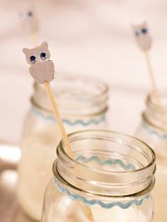 Winter owl baby shower