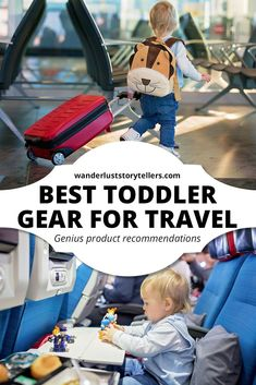 Looking for the best toddler gear for travel? Our post is full of helpful ideas on what to pack for your trip with your toddler that will make life easier. babies flight hotel restaurant destinations ideas tips Toddler Travel, Travel With Kids, Family Travel, Baby Travel, Golf Travel, Family Trips, Disney Travel, Cruise Travel, Family Vacations