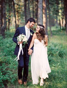 Woodsy Boho Wedding in Montana