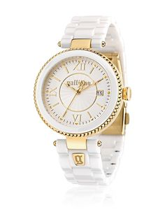 John Galliano Reloj de cuarzo The Author Blanco 38 mm en Amazon BuyVIP