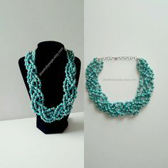 Hey, I found this really awesome Etsy listing at https://www.etsy.com/listing/467901597/5-strand-turquoise-necklaceaqua