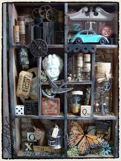 SHADOW BOXES (Elective, 2 Days): Using the campers' own small trinkets, personal collectibles & pictures, they will create a memory/collection shadow box.