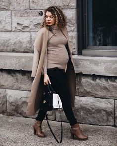 camel monochromatic outfit | maternity fashion | dress the bump | style the bump | maternity clothes #maternityoutfits