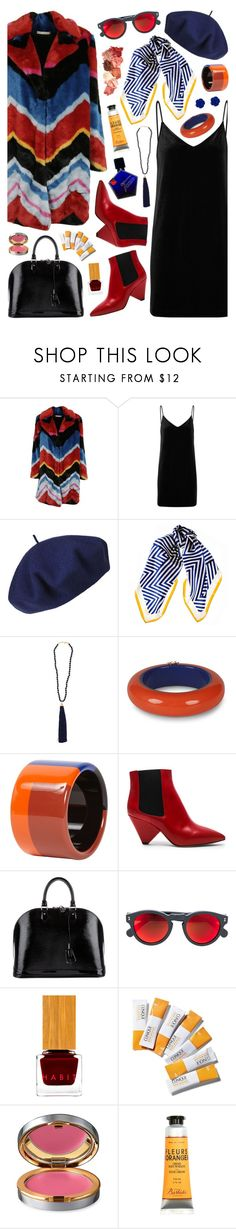 """Color!"" by ladomna ❤ liked on Polyvore featuring Alice + Olivia, rag & bone/JEAN, Betmar, Black, Rosantica, Dsquared2, Hermès, JewelMak, Isabel Marant and Louis Vuitton"