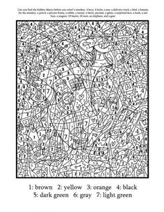 Color by number coloring pages really cool one for each letter of
