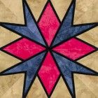 Stained Glass Stars Over Tejas Quilt Block Pattern