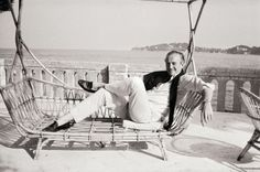 David Niven relaxing on the French Riviera.