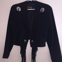 Black leather Jacket Country black leather jacket..genuine lather with acetate satin lining Scully Jackets & Coats