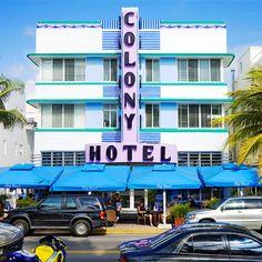 Colony Hotel (1939), South Beach, Miami Beach.