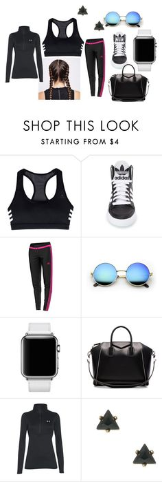 """""""Workout look"""" by kaeleigh-247 on Polyvore featuring adidas, Hermès, Givenchy and Under Armour"""