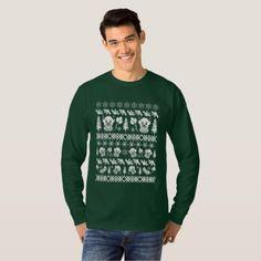 Ugly Christmas Sweater Clown - white print - Halloween happyhalloween festival party holiday