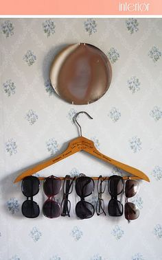 neat idea for storage of sunglasses