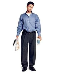 Business Casual: Wear clothes that fit! often men will buy slacks that are too long, with pants that puddle at the feet, or shirts that are too big and billow. This will give you a sloppy, disheveled look. Avoid them. Business Casual Dress For Men, Business Outfits, Business Fashion, Men Casual, Casual Wear, Business Formal, Business Wear, Oversized Shirt Dress, Gq Style