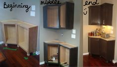 Cool corner cabinet idea (damn, that was almost an alliteration)