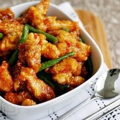 Snack on these tasty morsels of crunchy deep-fried chicken coated in sweet and sticky chilli sauce