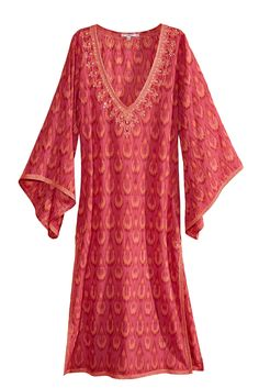 Ikat printed cotton caftan.