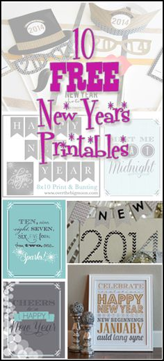 10 FREE New Years Printables from www.overthebigmoon.com!