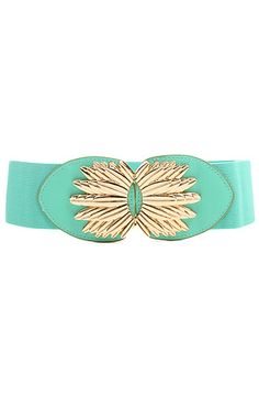 The St. Barths Belt In Mint by *Accessories Boutique