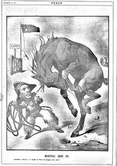 RT @FrontlineWW1: #WW1 Roping Him In Punch (Melbourne) 22 Nov 1917 #ww1cartoon #BillyHughes #conscriptionWW1 https://t.co/fUrNuLSgSU