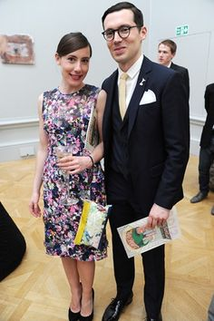 Erdem Moralioglu with his muse, twin sister Sara Moralioglu, at the Royal Academy party.
