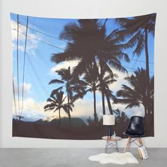 Cali Palms Wall Tapestry by Gallery One | Society6