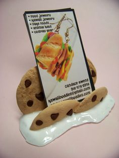 Business Card Holder Milk and Cookies and Cream by kawaiibuddies, Great for bakeries!