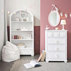 Boîte 5 tiroirs blanche et rose | Maisons du Monde
