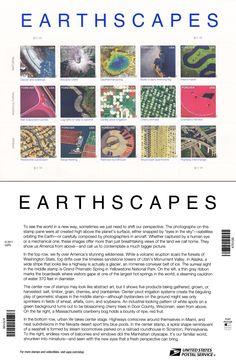 """Earthscapes"" stamp sheet."
