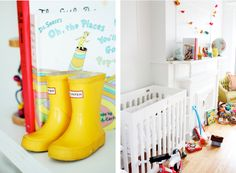 adorable bookend from rockstar diaries blog. this nursery is the best.