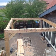 Building a pergola in the garden (From Amy Buxton)