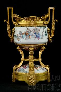 CONTINENTAL PORCELAIN SEVRES-STYLE ORMOLU-MOUNTED : Lot 981