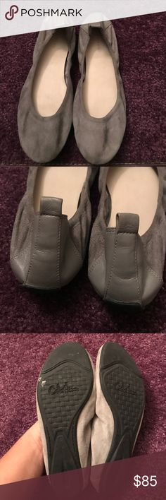 Grey suede Cole haan flats So cute and worn once Cole Haan Shoes