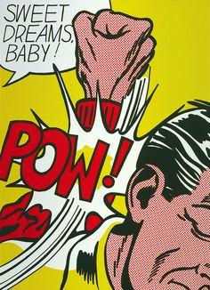 "Roy Lichtenstein's ""Sweet Dreams, Baby!"" from The screenprint is one of the works going to the Whitney Museum of American Art from the Roy Lichtenstein Foundation.Estate of Roy Lichtenstein Roy Lichtenstein Pop Art, Jasper Johns, Arte Pop, Cultura Pop, Andy Warhol, Pop Art Dibujos, Cuadros Pop Art, Comic Art, Art Picasso"