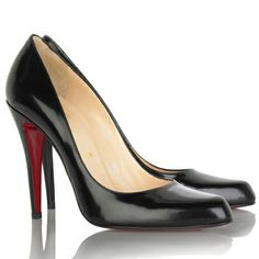Christian Louboutin Black Patent Leather Pumps.