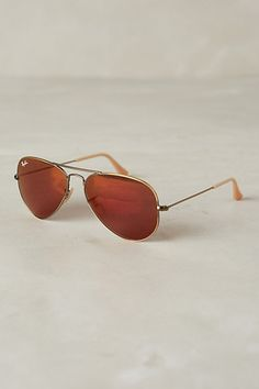 Ray-Ban Aviator Flash Sunglasses #anthrofave #anthropologie.com