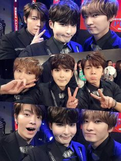 Ryeowook with Donghae and Eunhyuk
