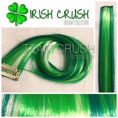 A personal favorite from my Etsy shop https://www.etsy.com/listing/266540512/irish-crush-18-clip-in-colored-hair