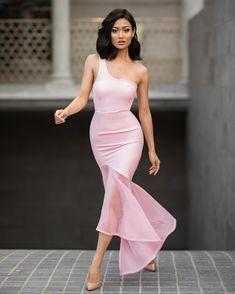 """Pretty in pink for Friday night  Dress by @runawaythelabel"""